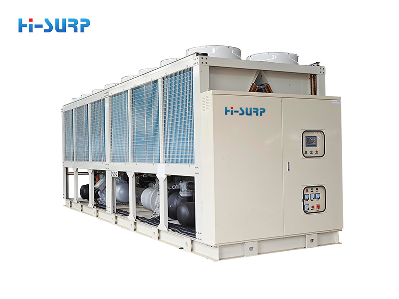 Chiller's exhaust temperature and efficient operation