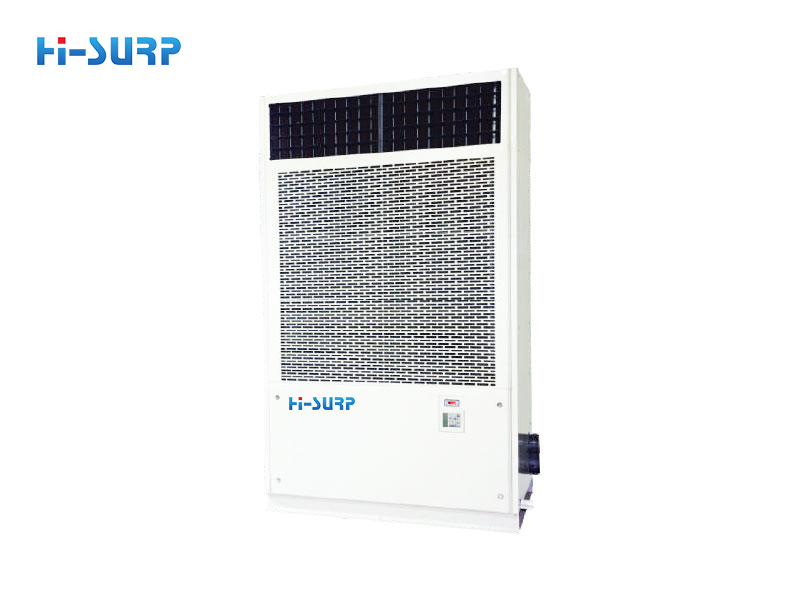 High temperature hot water unit with full heat recovery from waste, humid and hot air source (including laundry room air-conditioning)